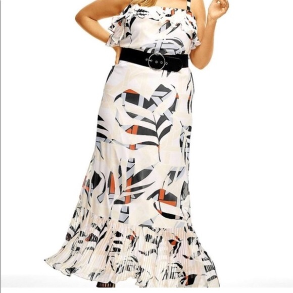 6bb7eb904585 Lane Bryant Dresses   Pleated Ruffle Maxi Dress Size 20   Poshmark